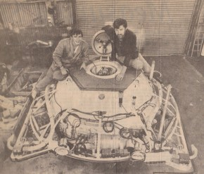 """Calypso"" submersible in Bluff Workshop"